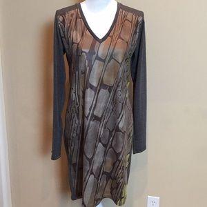 🆕 Volt Design Dress Gray Faux Leather Panel